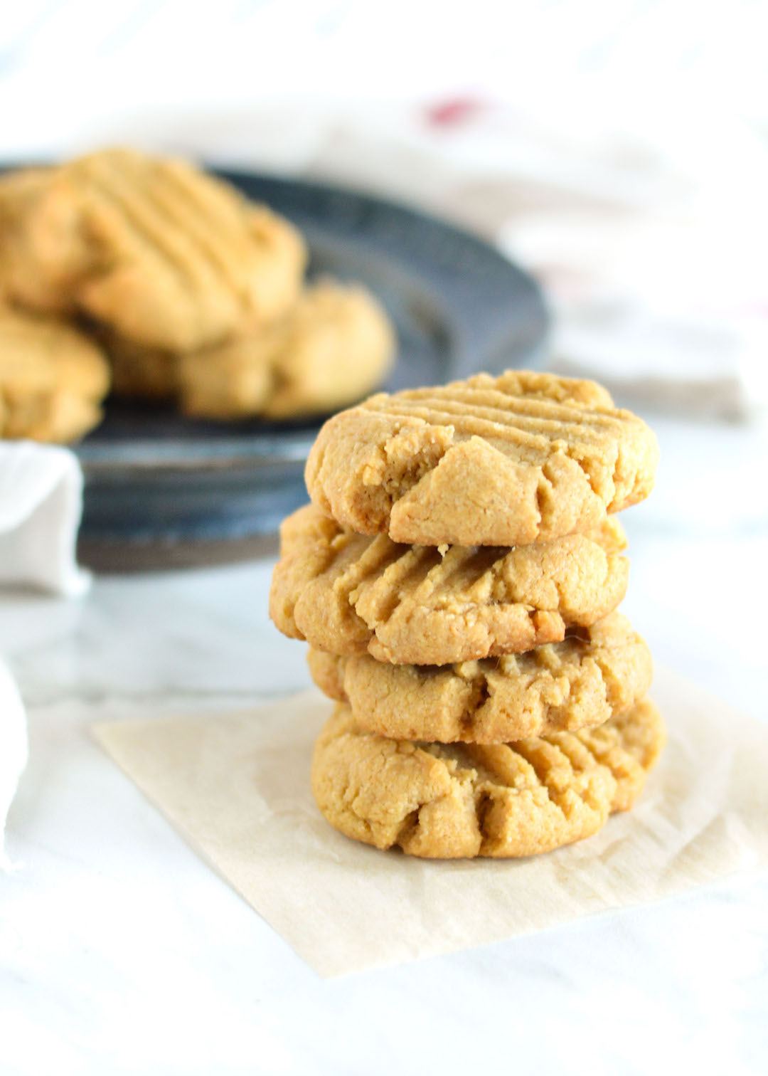 Peanut Butter Oat Cookies | gluten free | peanut butter cookie | healthy baking | gluten free cookie | lightened up cookies