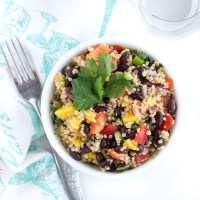 Crazy Easy Black Bean Mango Quinoa Salad