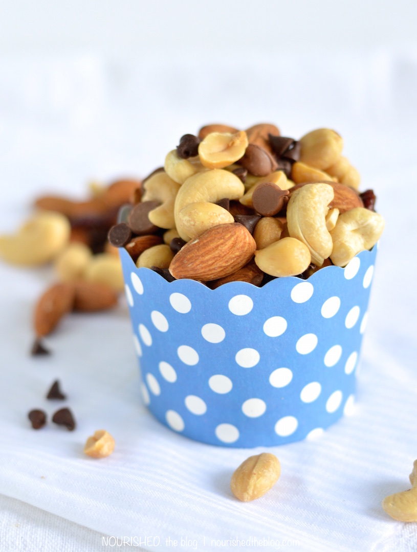 Homemade Trail Mix | NOURISHEDtheblog.com | cup