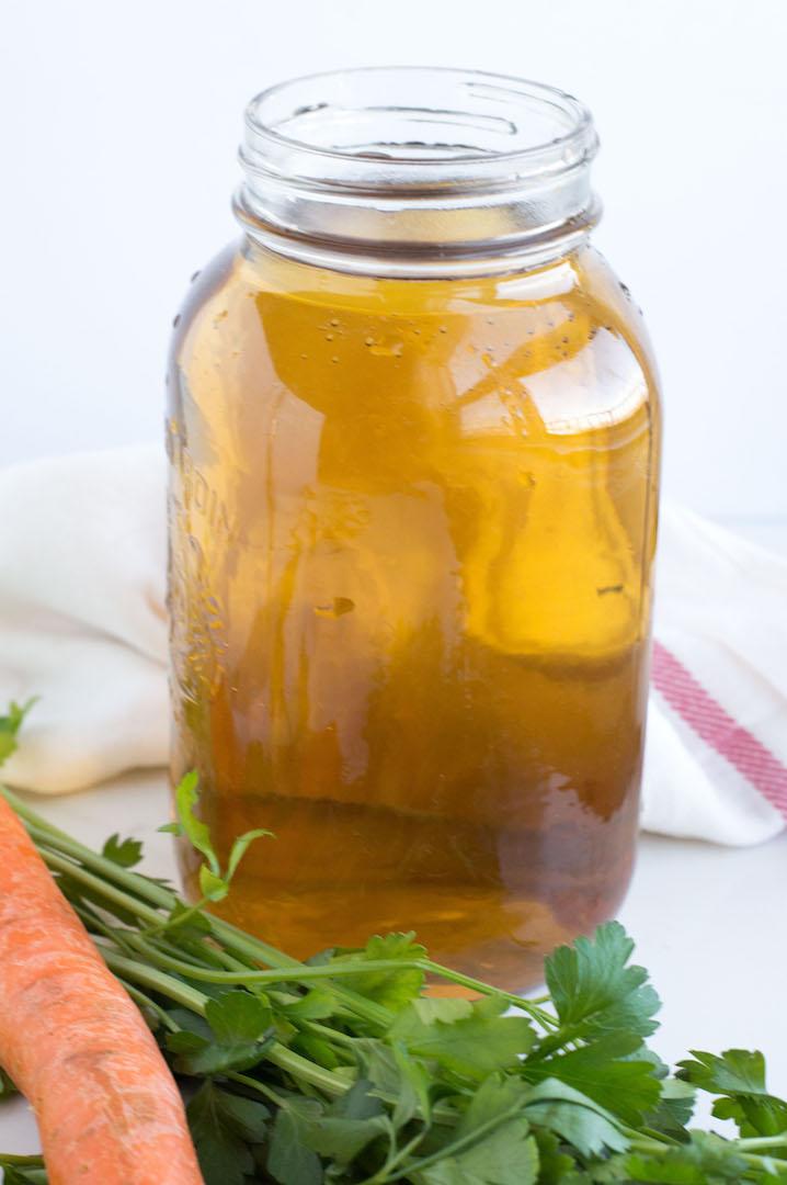 homemade slow cooker vegetable stock | nourishedtheblog.com | 4