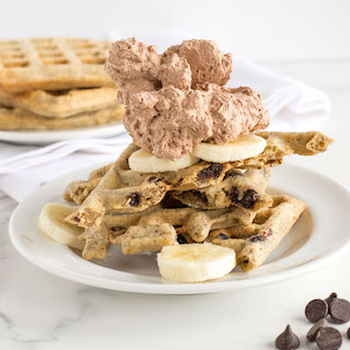 Gluten Free Almond Oat Waffles with Chocolate Chips