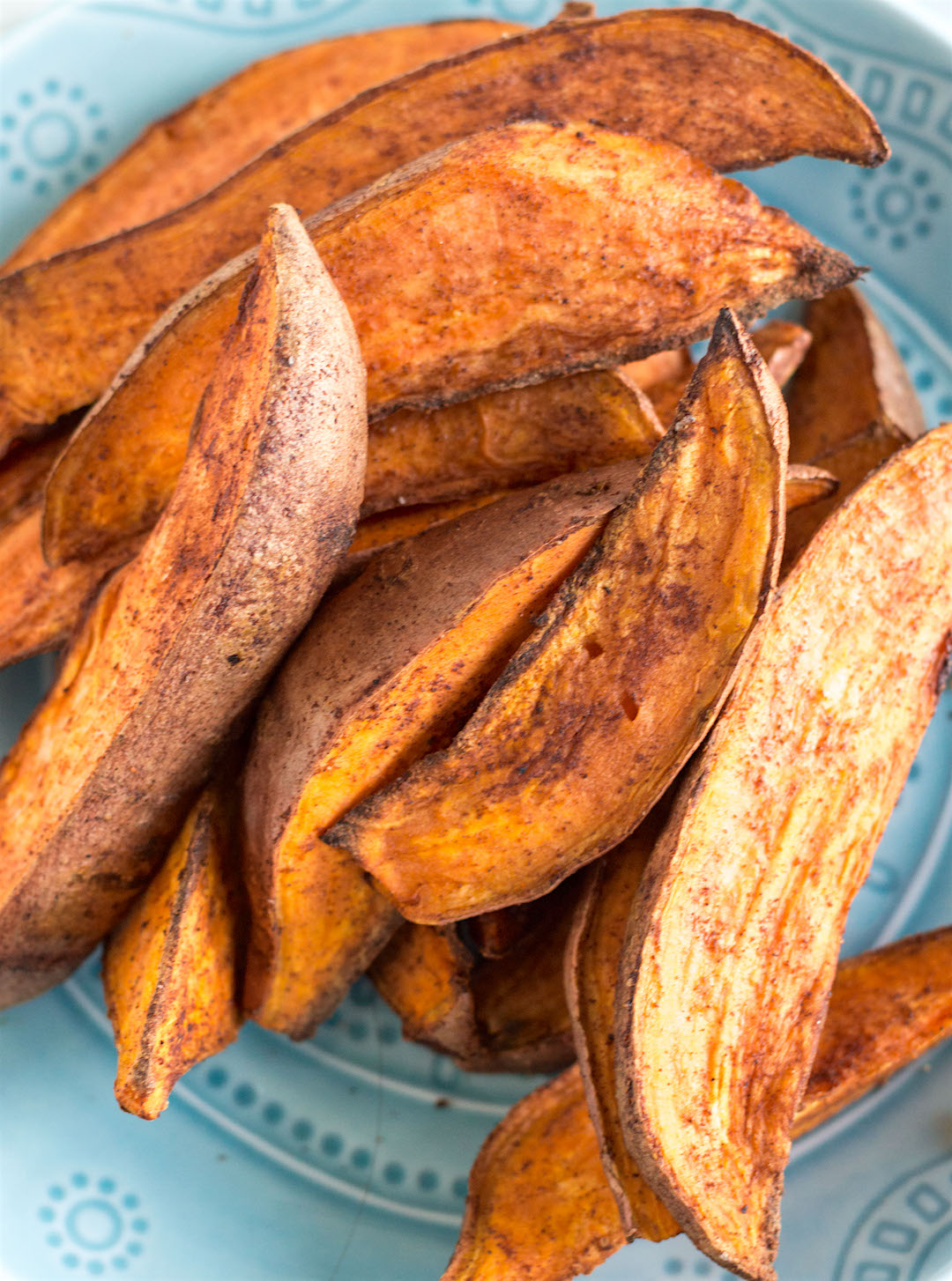 spicy roasted sweet potato wedges | gluten free & vegan