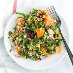 gluten free Sweet Potato Quinoa Salad with kale