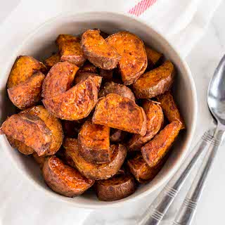 Maple Glazed Sweet Potatoes Feature Image