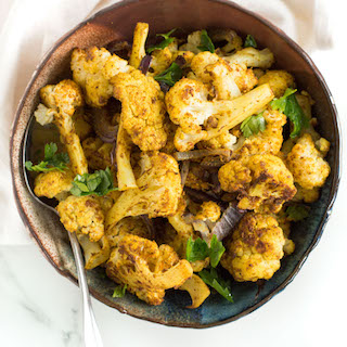 Easy Curried Roasted Cauliflower