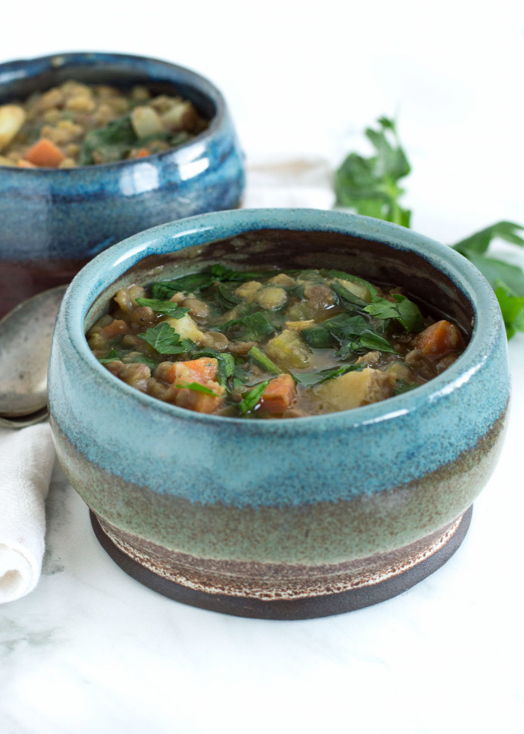 Vegan Warming Lentil Stew | vegetable stew | gluten free, vegan | easy to make | healthy soup | dinner, make ahead meal | nourishedtheblog.com |