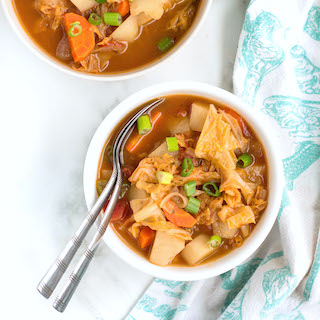 Easy Veggie Cabbage Soup