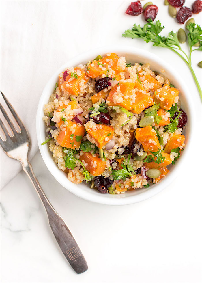 The Top 6 Recipes of 2016   Gluten Free, Vegetarian, Easy to Make recipes   Roasted Sweet Potato Quinoa Salad with Zesty Lime Dressing