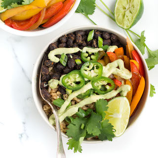 Veggie Burrito Bowl with Black Beans