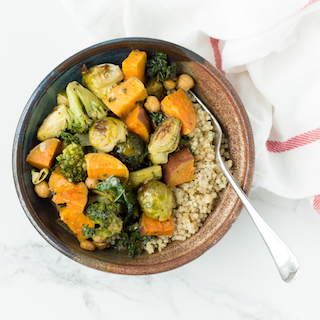 Roasted Vegetable Grain Bowls