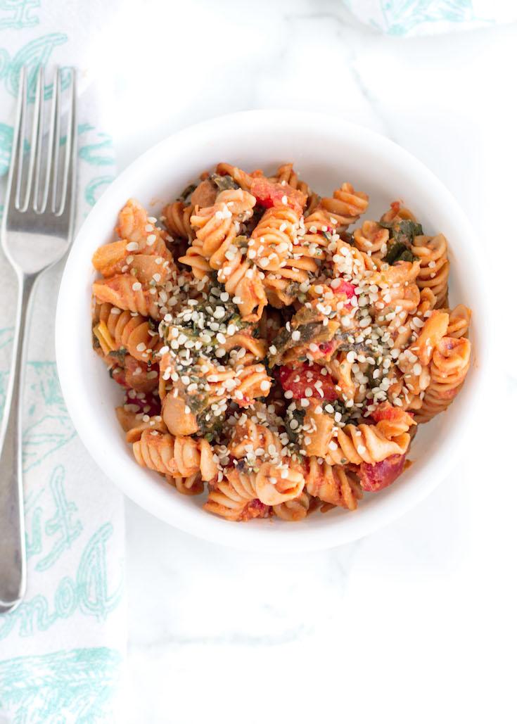 Creamy Tomato and Greens Pasta #ad #sponsored #bentiliapasta