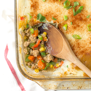 Shepherdess Pie (Turkey Shepherd's Pie with Veggies)