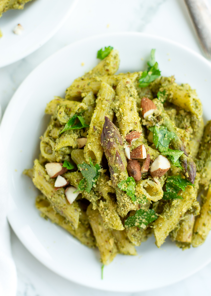 Pesto Pasta with Spring Veggies