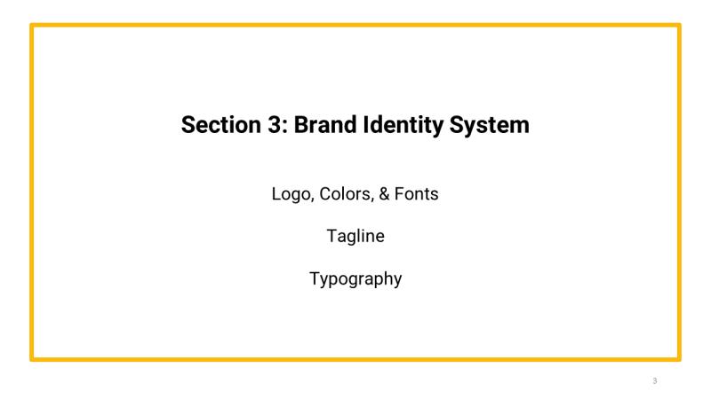 brand primer template Section 3 Brand Identity System