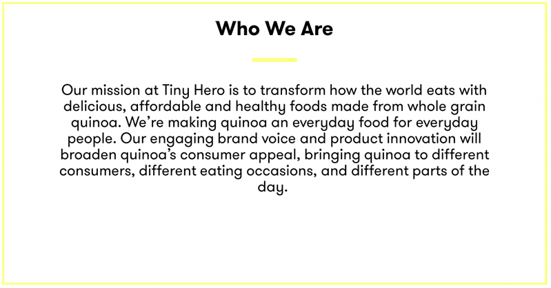 Nourishing Food Marketing Brand Primer Template Who We Are Example