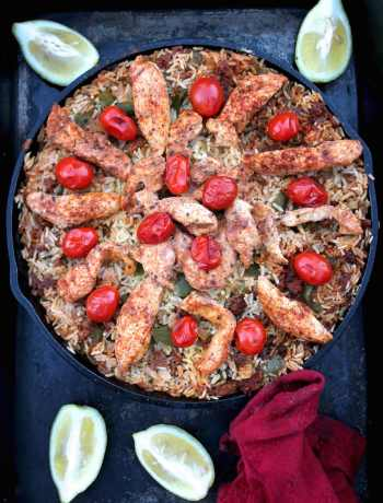 Campfire Chicken Paella / Arroz Con Pollo Recipe | Nourishing Wild
