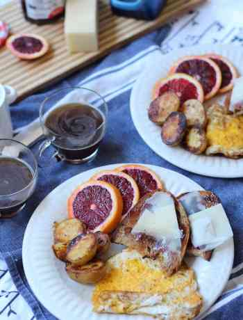 Italian-inspired Breakfast with Pan-Fried Sun-Dried Tomato Breakfast Potatoes Recipe | Nourishing Wild