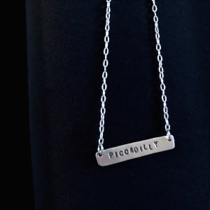 Handmade Silver Bar Necklace with inscription | Nourishing Wild