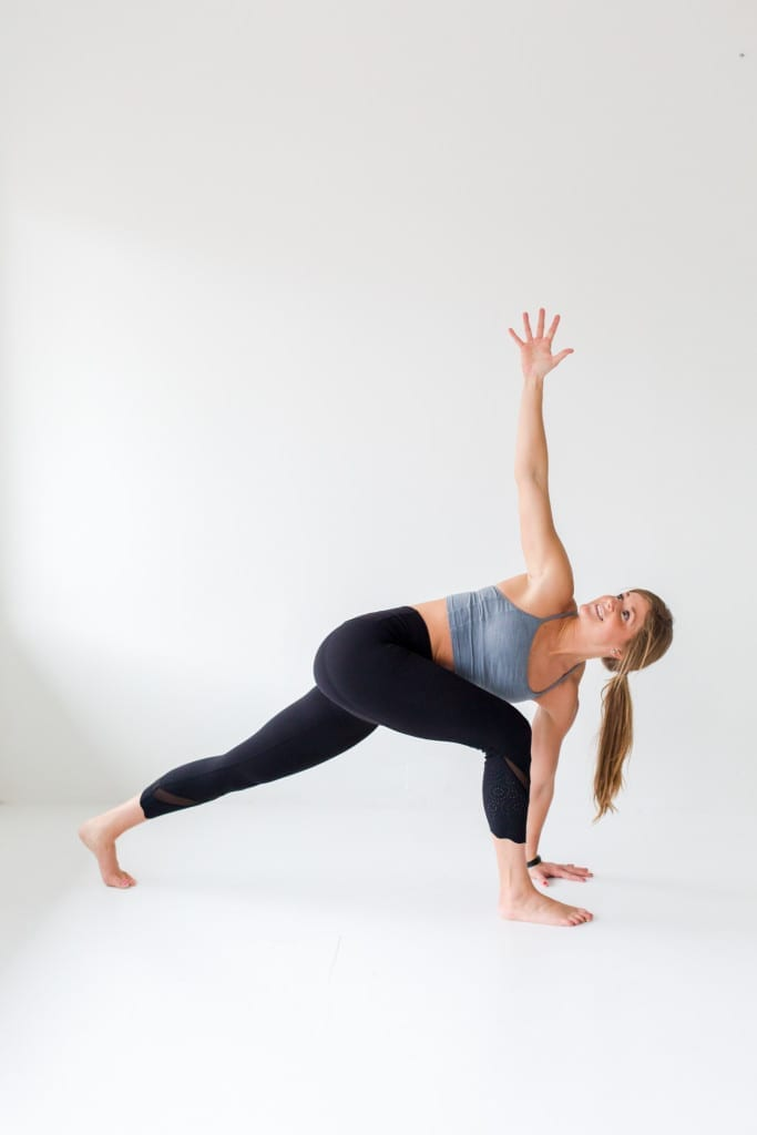 10 morning yoga poses, side twist + chest expansion --- www.nourishmovelove.com
