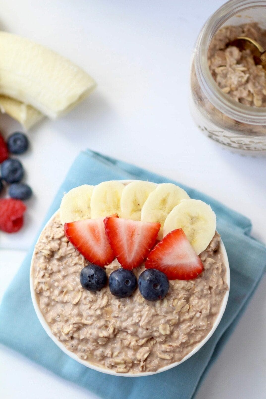 Healthy Chocolate Mousse Overnight Oats