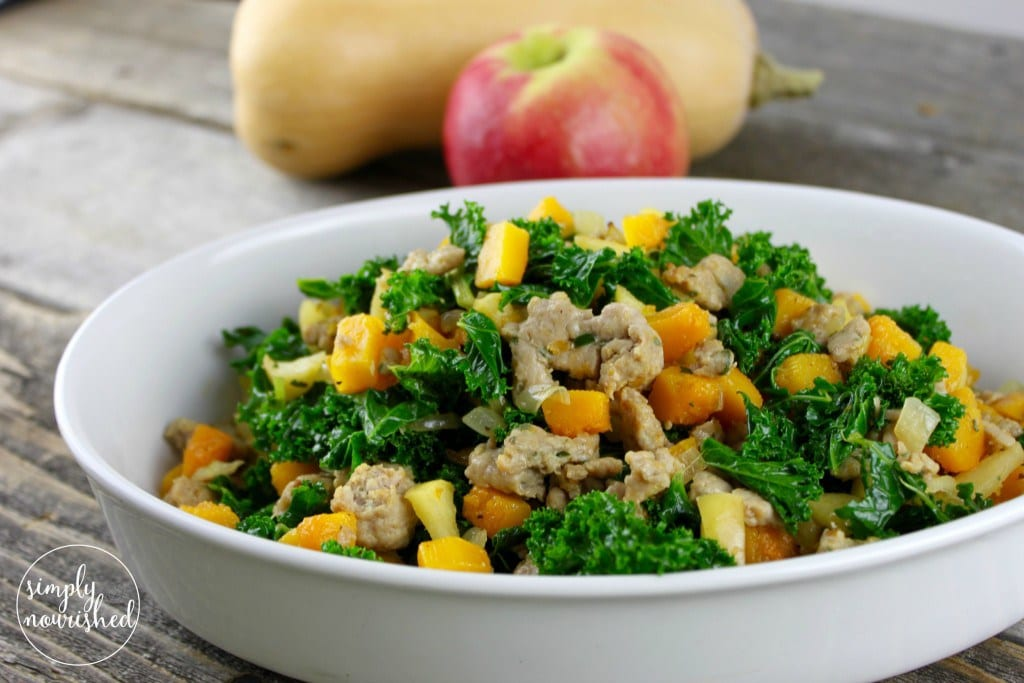 Butternut Squash + Apple Hash with Sausage