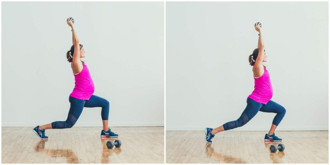 Toe Roll Isometric lunge