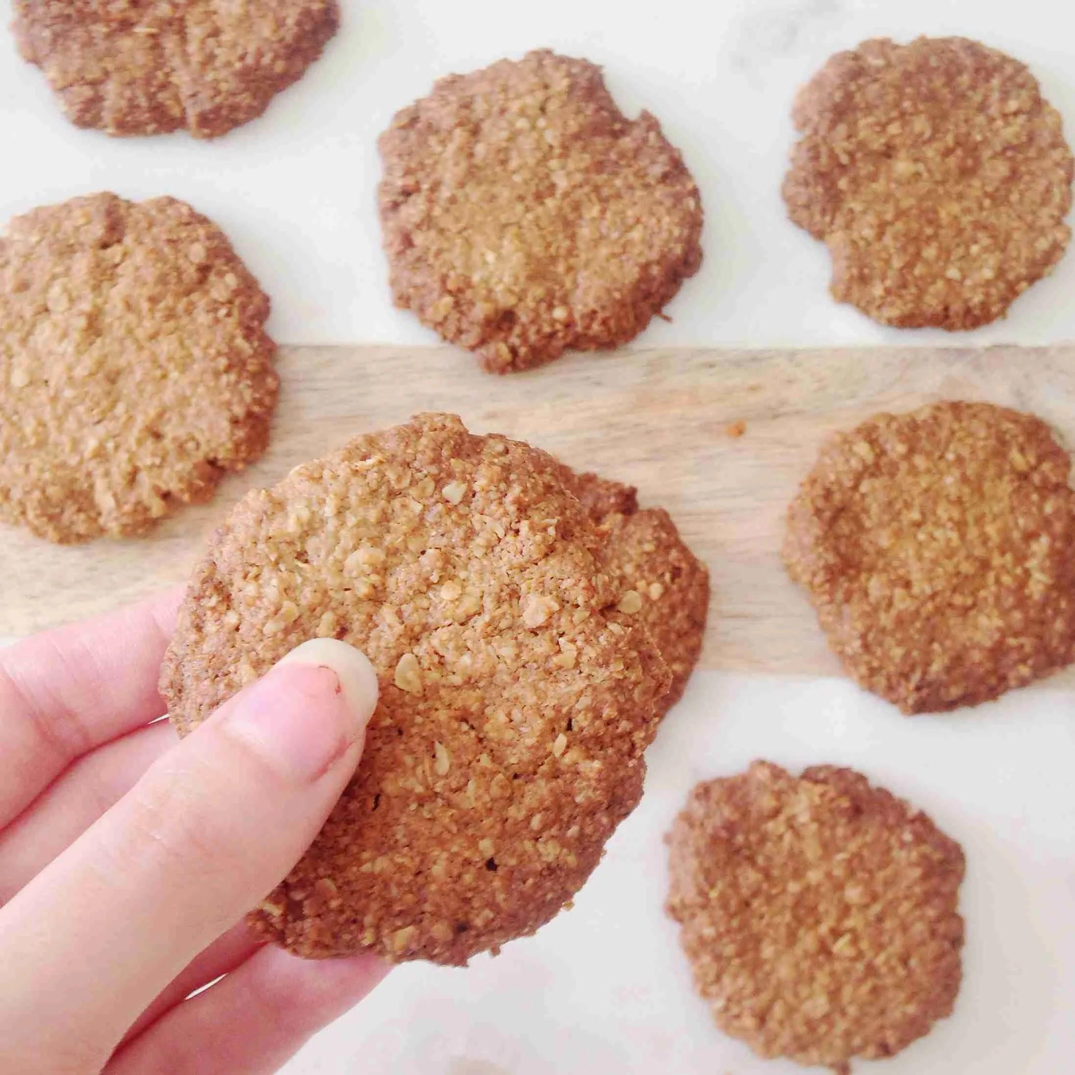 Healthy Ginger Vegan Biscuit Recipe Nourish Your Glow