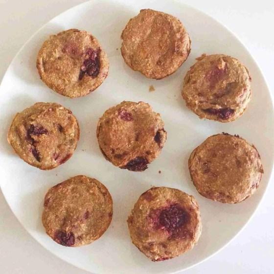 Raspberry Almond Cream Muffins- Healthy, Vegan + Gluten Free