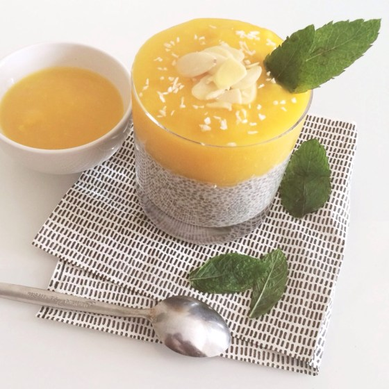 A Vegan Mango Coconut Chia Pudding Recipe by www.nourishyourglow.com