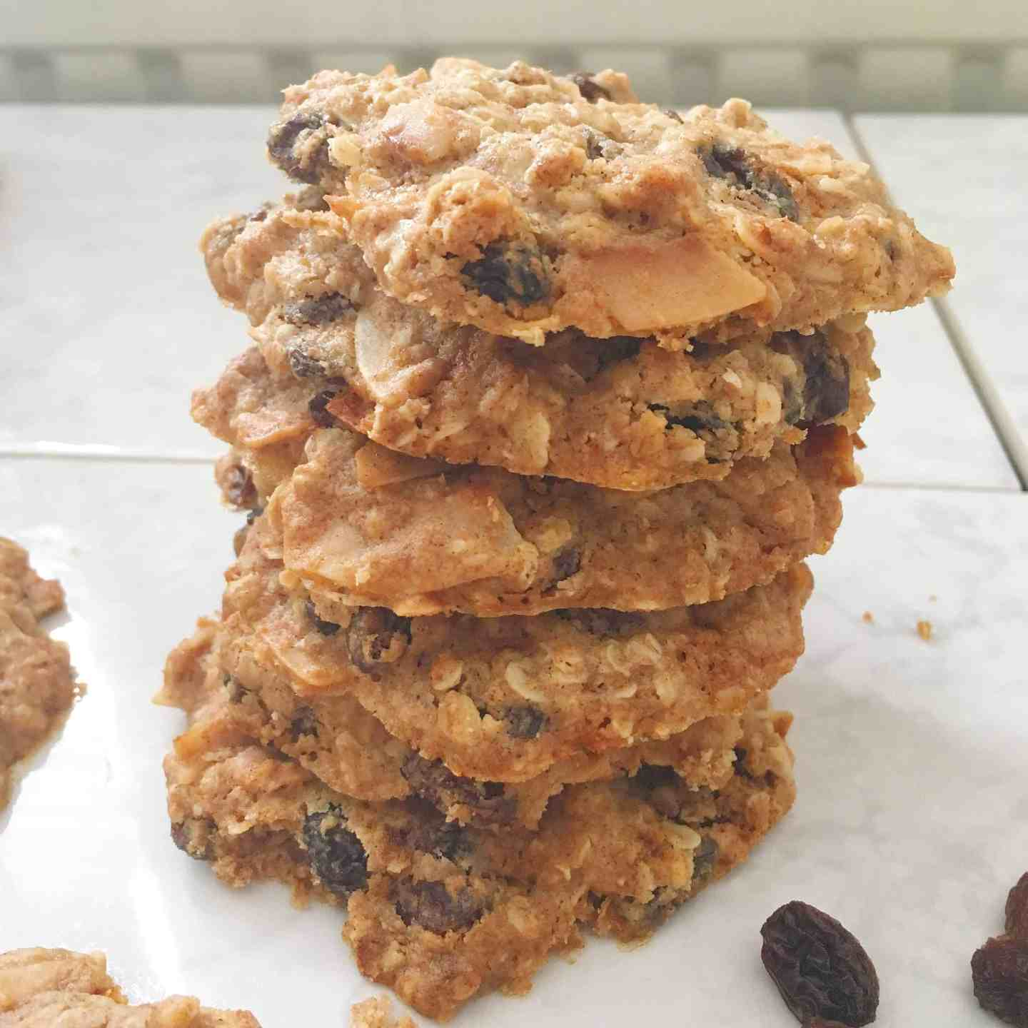 Spiced Raisin Oat Vegan Biscuit