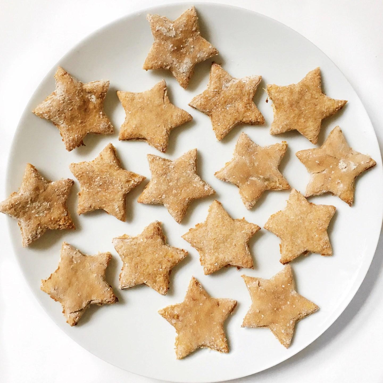 Healthy Cinnamon Christmas Stars Biscuits | Vegan + Gluten Free
