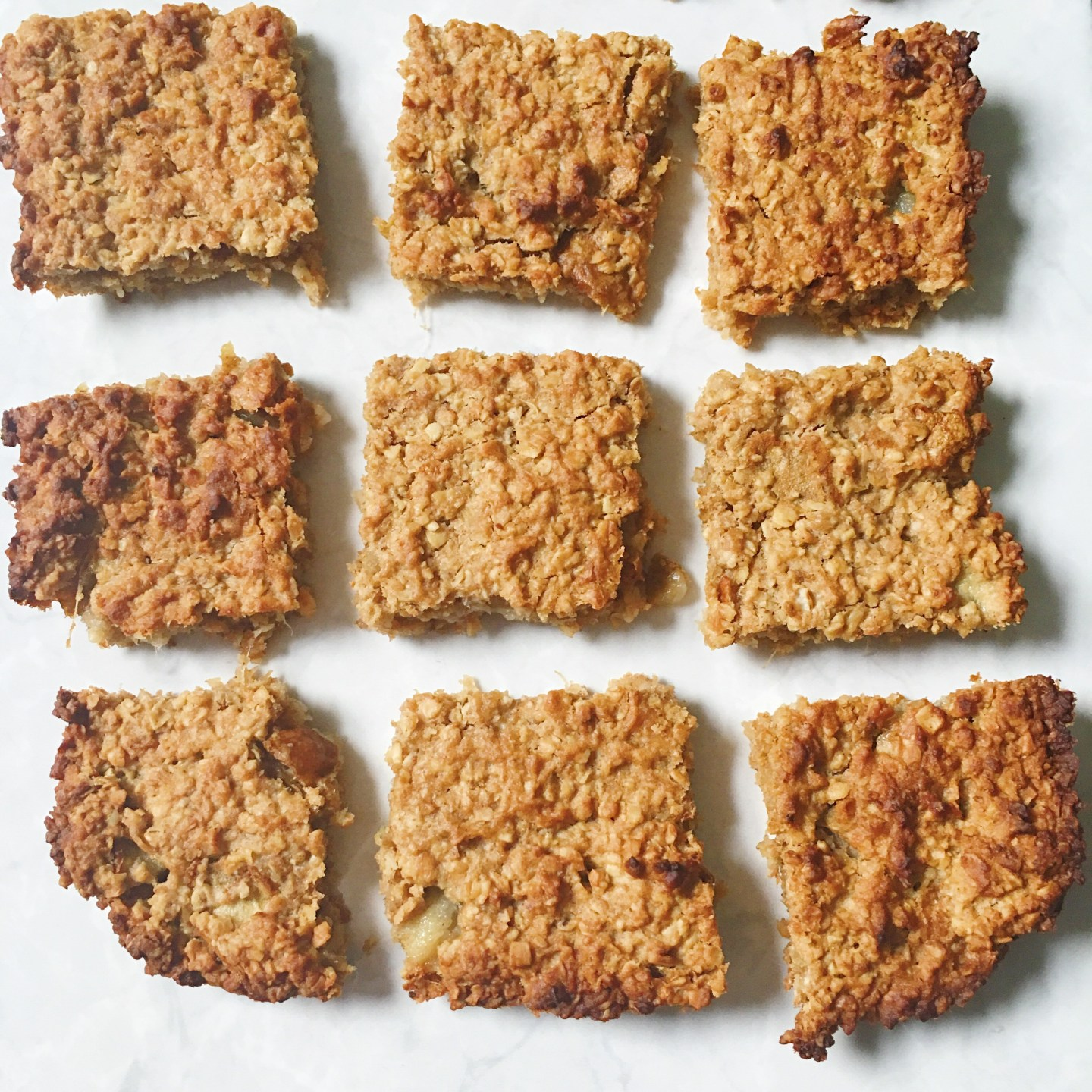 Pear and Ginger Oat Bars