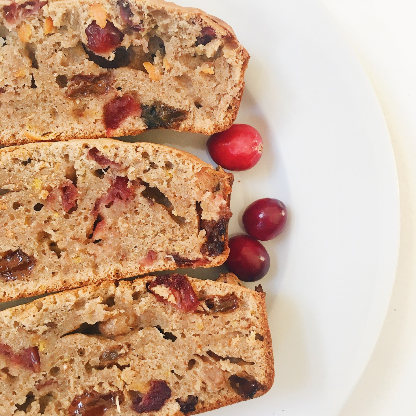 Sweet Spiced Christmas Orange Cranberry Bread