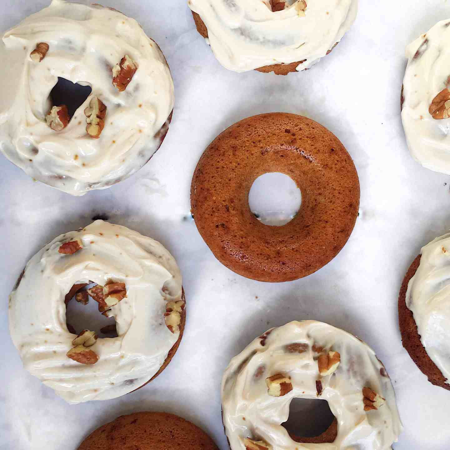 Healthy Carrot Cake Baked Doughnuts recipe
