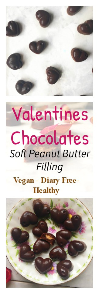 Valentines Recipe - Chocolates with a Peanut Butter Centre