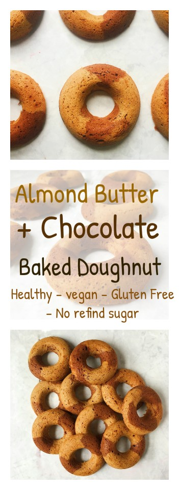 almond butter and chocolate baked doughnut recipe.