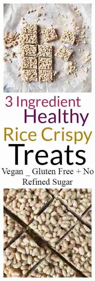 Healthy rice crispy treats recipe