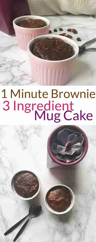 Single Serving 1 Minute Mug Cake Peanut Butter Brownie Recipe