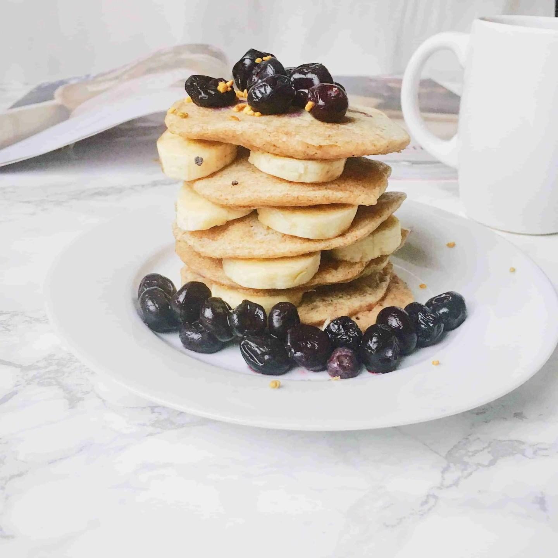 healthy buckwheat flour vegan pancakes