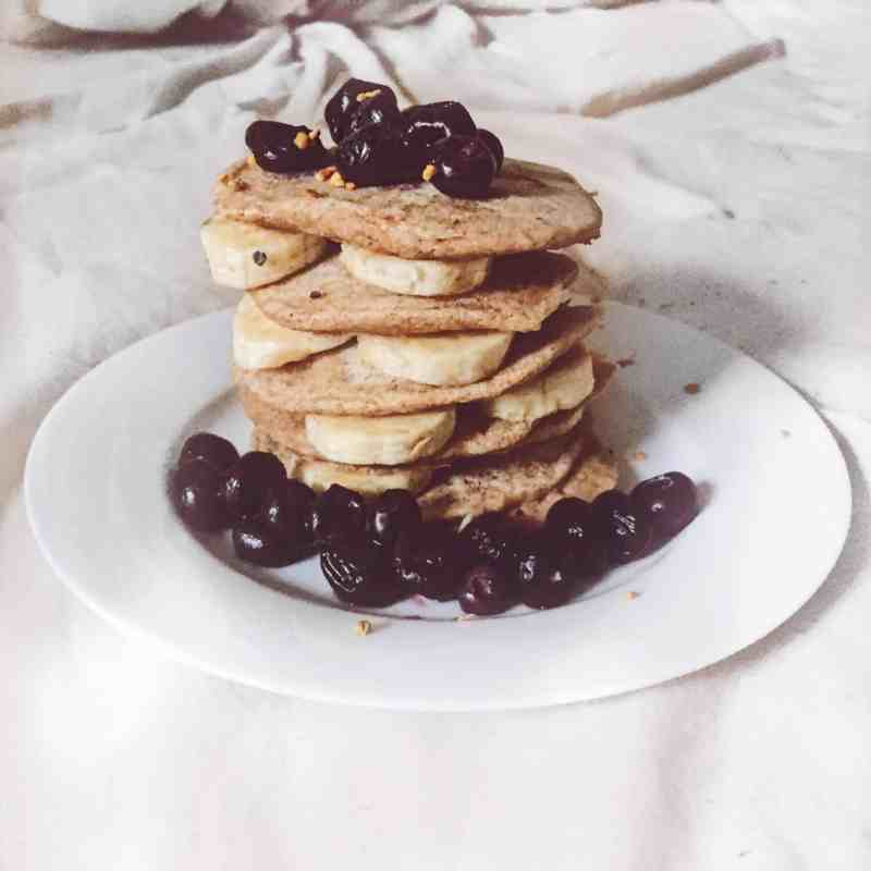 healthy buckwheat flour vegan pancakes
