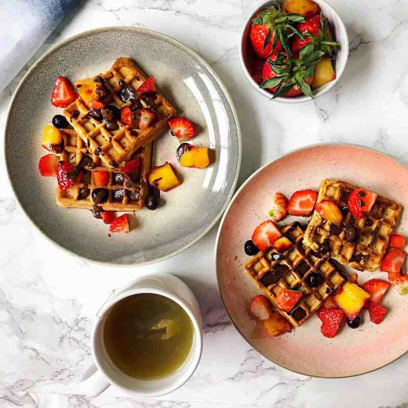 Healthy Vegan Gluten Free Waffles