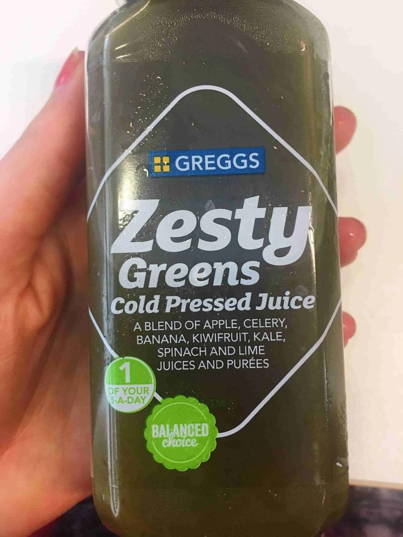 Greggs green juice.