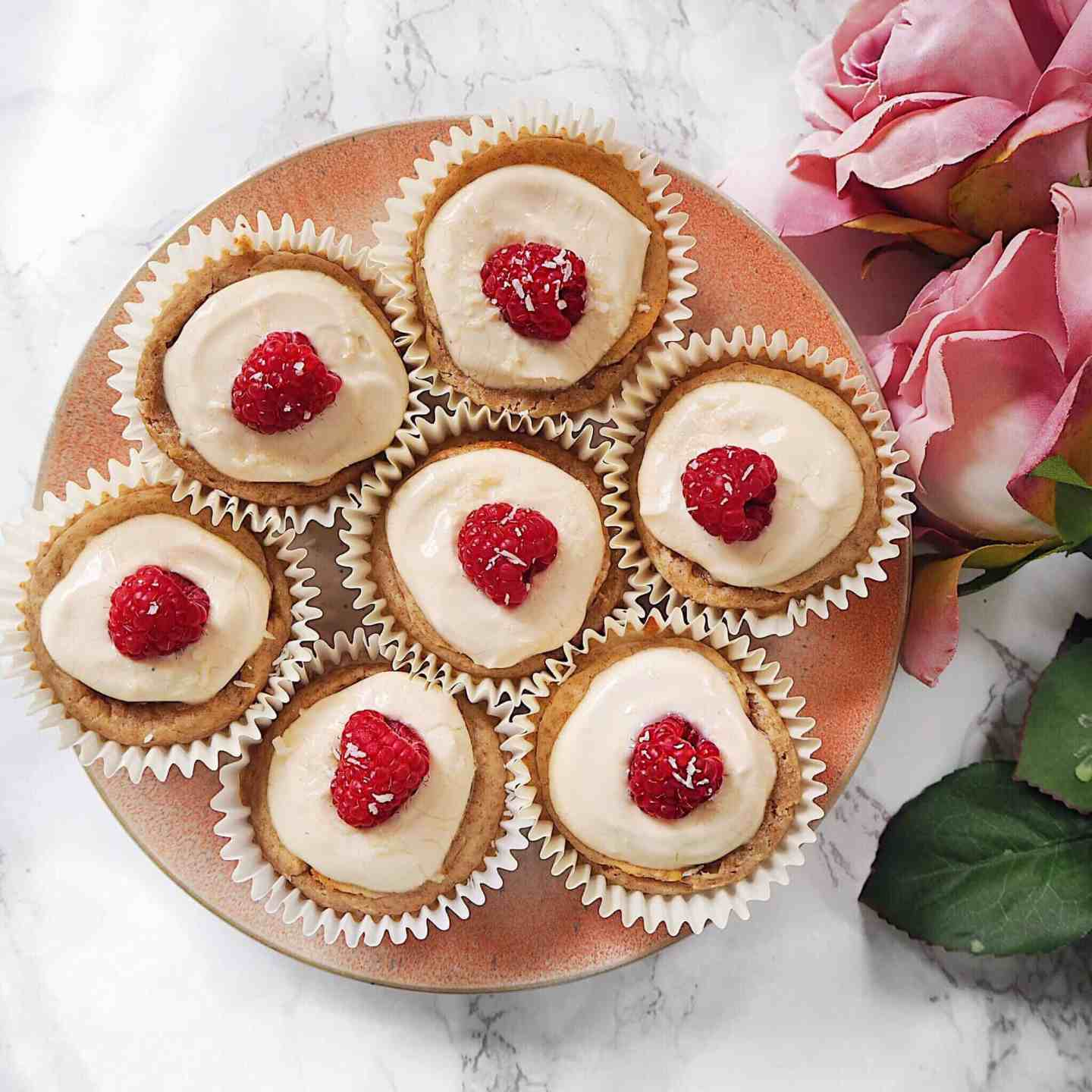 Healthy Coconut and Raspberry Muffins - Gluten Free + vegan