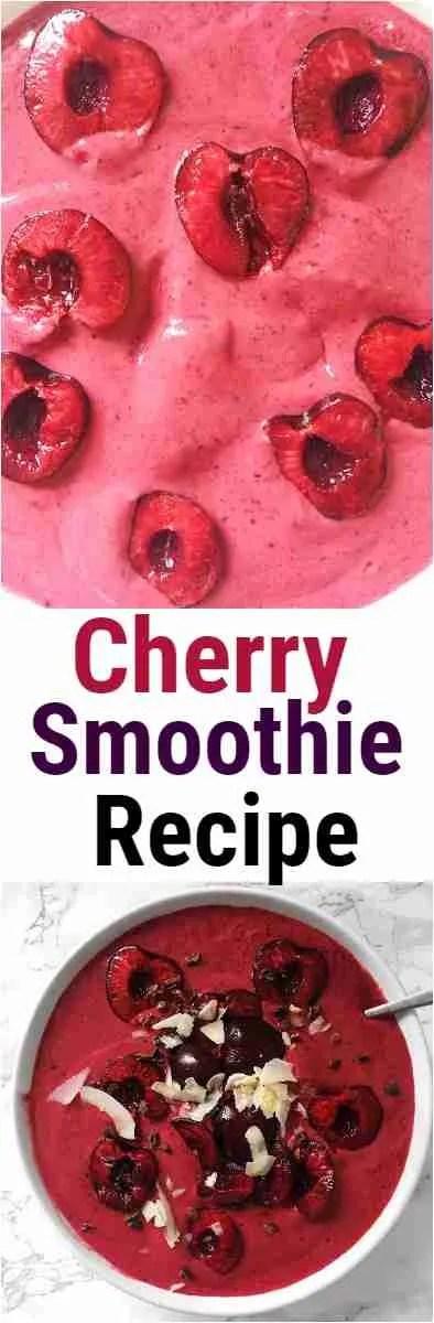 Cherry Smoothie Bowl Recipe