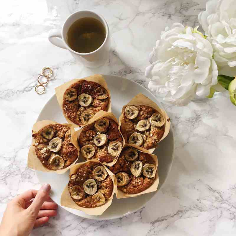Healthy Banana Muffins Recipe - Vegan + Gluten Free