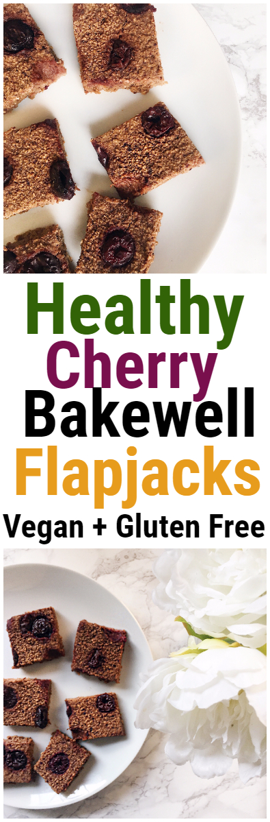 Cherry Bakewell Healthy Flapjack Recipe