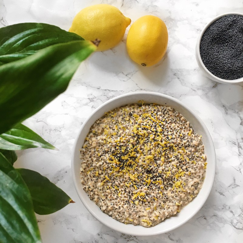 Lemon Poppy Seed Overnight Oats Recipe