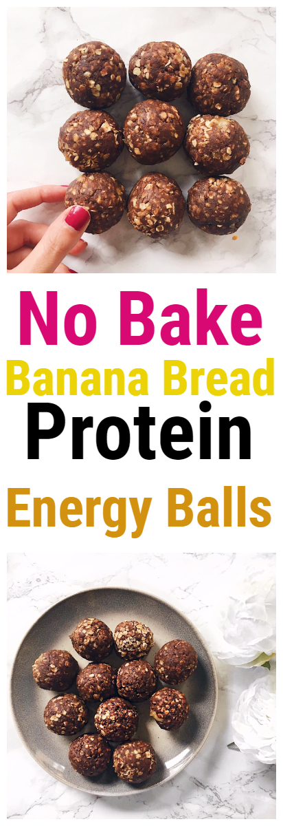 No Bake Banana Bread Protein Energy Balls Recipe
