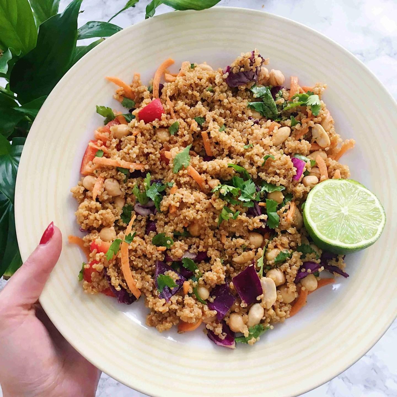 Thai Quinoa Salad Recipe - Vegan + Gluten Free