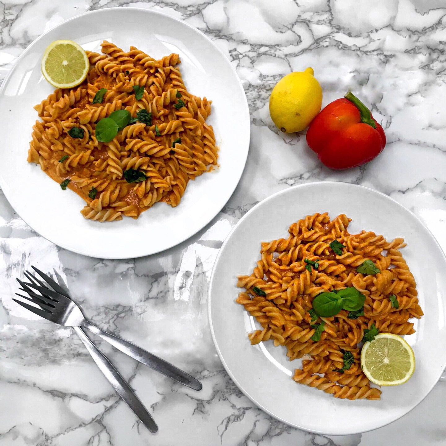 Healthy Roasted Red Pepper Pasta Sauce